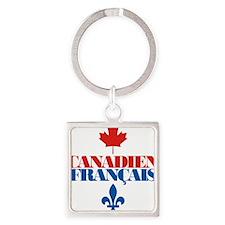 Canadien Francais 5 Square Keychain