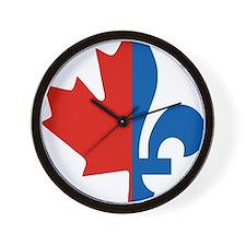 Maple-Fleur Wall Clock