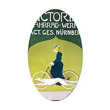 Vintage Art Nouveau Poster Oval Car Magnet