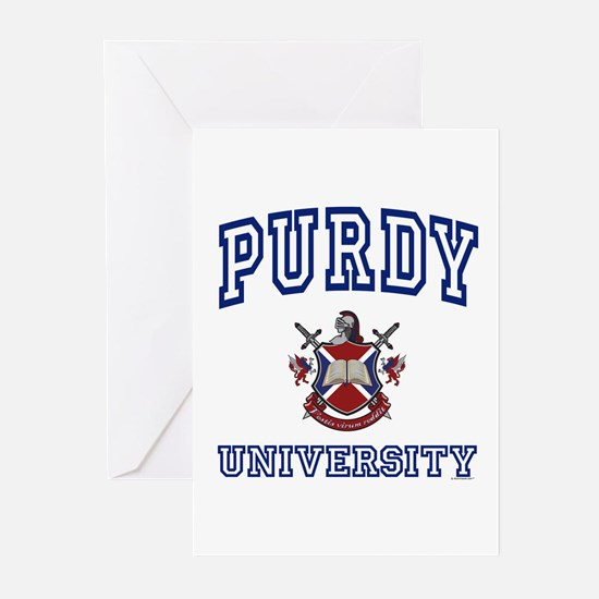 PURDY University Greeting Cards (Pk of 10)