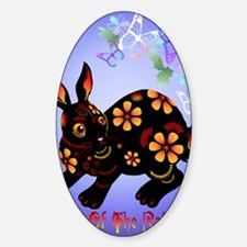 Year Of The Rabbit in Black PosterP Decal