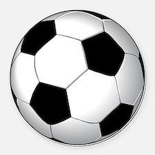 soccer01 Round Car Magnet