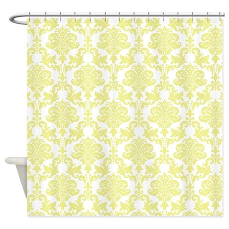 Yellow Damask Shower Curtain By TheChicBoutique85