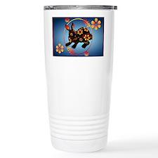 Black Designed Rabbit-Yardsign Travel Mug