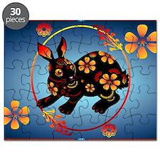 Black Designed Rabbit-Yardsign Puzzle