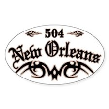 New Orleans 504 Bumper Stickers