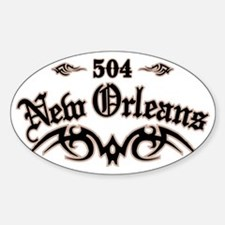 New Orleans 504 Sticker (Oval)