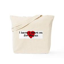Heart on for Megan Tote Bag