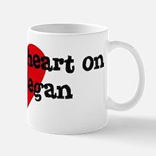 Heart on for Megan Mug