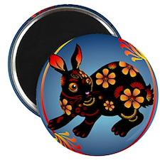 Black Designed Rabbit_pillow Magnet