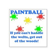 """Paintball Welts Blue Square Sticker 3"""" x 3"""""""