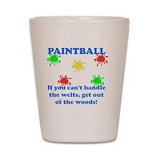 Paintball Welts Blue Shot Glass