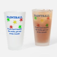 Paintball Welts Blue Drinking Glass