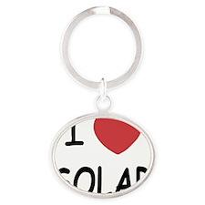 SOLAR Oval Keychain
