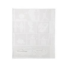 Skee-Lo White Throw Blanket