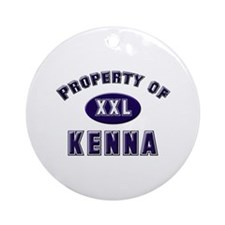Property of kenna Ornament (Round)