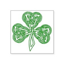 "Celtic_Knot_Clover_Tattoo_b Square Sticker 3"" x 3"""