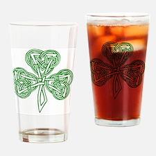 Celtic_Knot_Clover_Tattoo_by_karada Drinking Glass