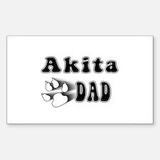 Akita Inu Dad Rectangle Decal