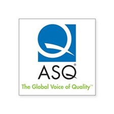 "ASQ Logo 4C tag g-med Square Sticker 3"" x 3"""