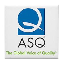 ASQ Logo 4C tag g-med Tile Coaster
