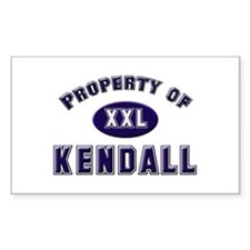 Property of kendall Rectangle Decal
