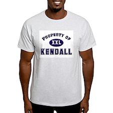 Property of kendall Ash Grey T-Shirt
