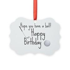 HB Golfer inside card Picture Ornament