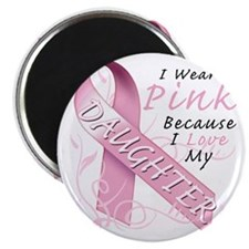 I Wear Pink Because I Love My Daughter Magnet