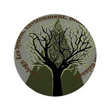 """Tree Ecology 3.5"""" Button"""
