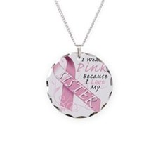 I Wear Pink Because I Love M Necklace