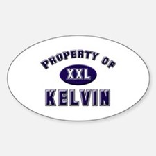 Property of kelvin Oval Decal