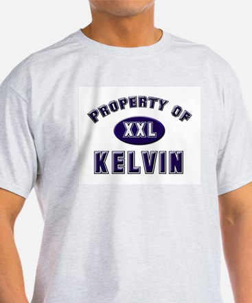 Property of kelvin Ash Grey T-Shirt