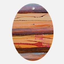 sunburnt country iphone 4 slider Oval Ornament