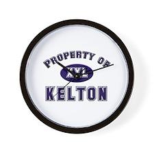 Property of kelton Wall Clock
