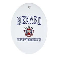 MENARD University Oval Ornament