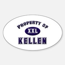 Property of kellen Oval Decal