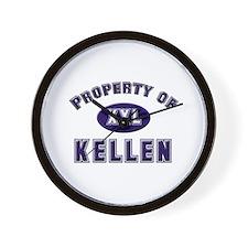 Property of kellen Wall Clock