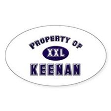 Property of keenan Oval Decal