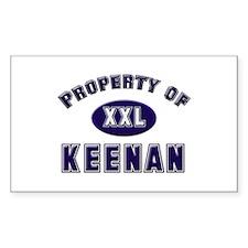 Property of keenan Rectangle Decal