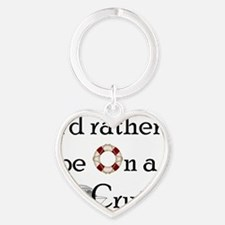 Id Rather Cruise Heart Keychain