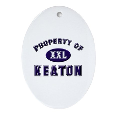Property of keaton Oval Ornament