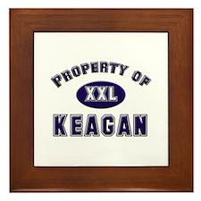 Property of keagan Framed Tile