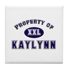 Property of kaylynn Tile Coaster