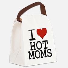 i love hot moms Canvas Lunch Bag
