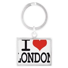 i love london Landscape Keychain