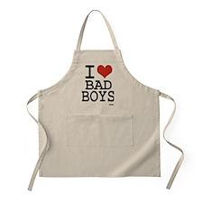 i love bad boys Apron