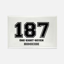 187 - HOMICIDE Rectangle Magnet