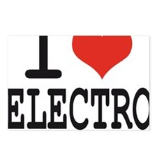 i love electro Postcards (Package of 8)