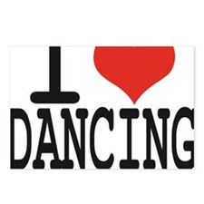 i love dancing Postcards (Package of 8)